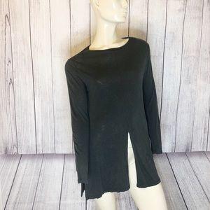 Zara W/B collection basic dark gray long sleeve